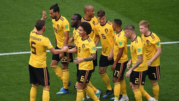 Les Belges après l'ouverture du score dans le match pour la 3e place contre l'Angleterre - Sputnik France