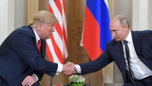 Les Présidents Donald Trump et Vladimir Poutine - Sputnik France
