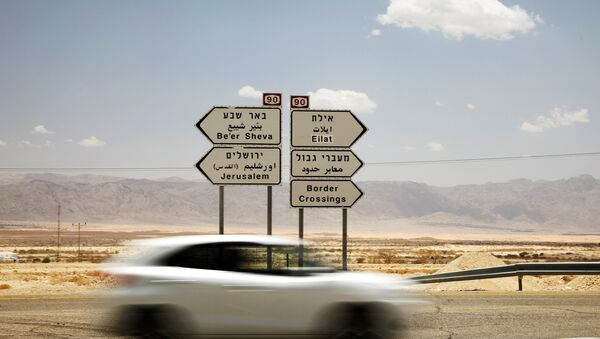 A road sign pointing to the direction of various Israeli cities is seen north to Eilat, Israel, June 12, 2018 - Sputnik France