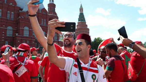 Болельщики перед матчем ЧМ-2018 по футболу между сборными Португалии и Марокко - Sputnik France