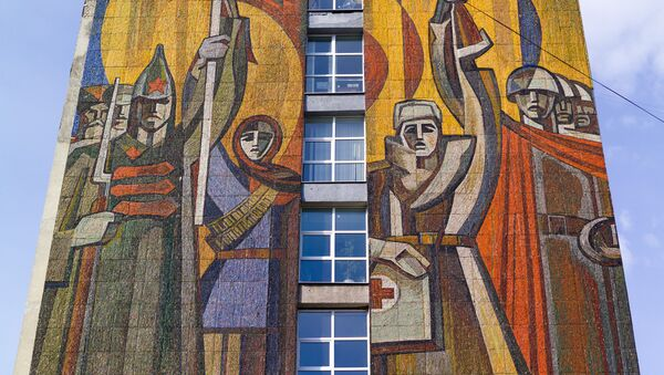 Мозаика на здании города Иваново - Sputnik France