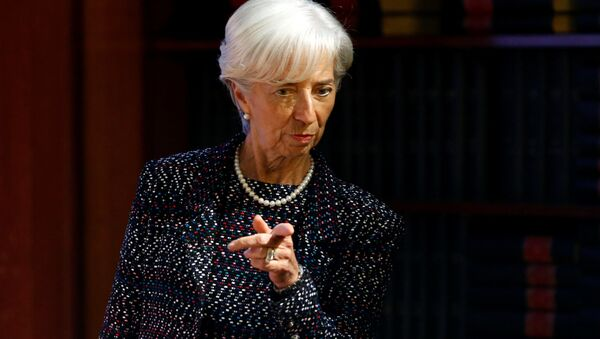 International Monetary Fund (IMF) Managing Director Christine Lagarde arrives to deliver a speech at the Solvay Library in Brussels, Belgium April 12, 2017. - Sputnik France