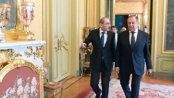 Встреча глав МИД РФ и Иордании С. Лаврова и А. Сафади - Sputnik France