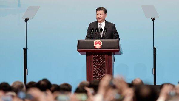 Chinese President Xi Jinping speaks at the opening of the BRICS Summit in Xiamen, China September 3, 2017 - Sputnik France