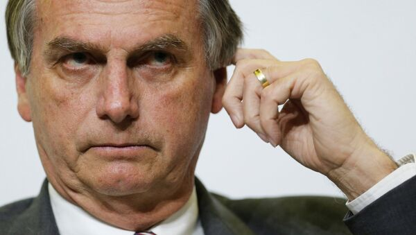 Jair Bolsonaro, deputado federa de Brasil y candidato a las elecciones presidenciales por el Partido Social Laborista. - Sputnik France
