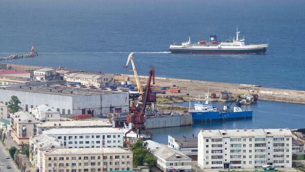 Un ferry russe reliant Sakhaline au territoire de Khabarovsk - Sputnik France