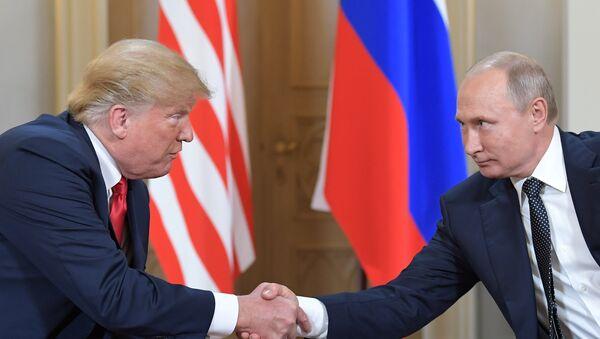 Poutine et Trump au sommet d'Helsinki - Sputnik France