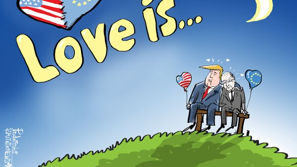 Bisou d'amour UE-USA - Sputnik France