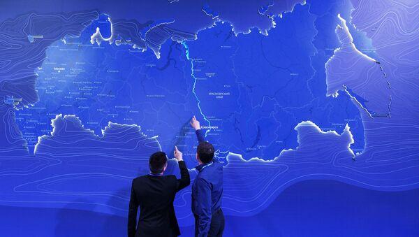 Die interaktive Landkarte Russlands  (Archivbild) - Sputnik France
