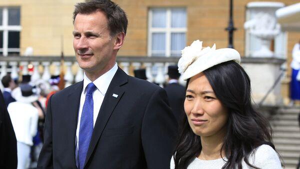 Jeremy Hunt et sa femme Lucia - Sputnik France