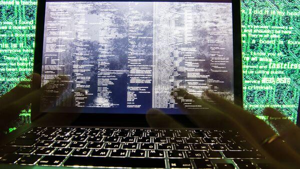 Вирус-вымогатель на экране ноутбука - Sputnik France