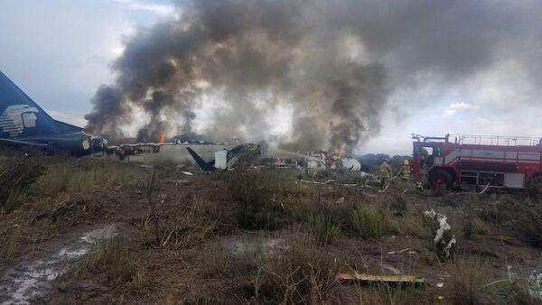 Site du crash de l'avion Embraer 190 au Mexique - Sputnik France