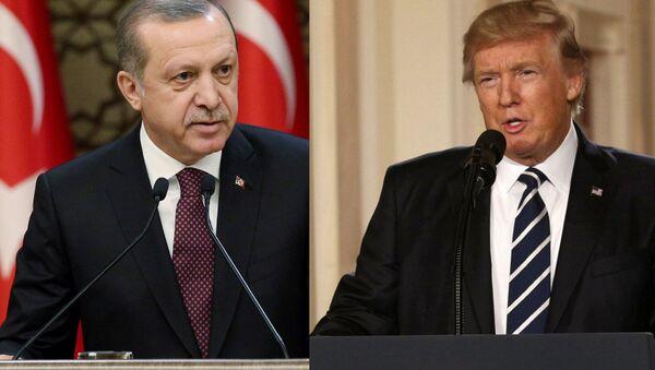 Recep Tayyip Erdogan et Donald Trump - Sputnik France