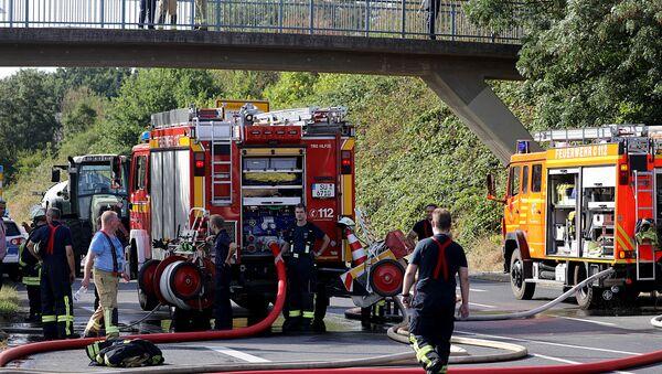 Les pompiers dans la ville allemande de Siegburg - Sputnik France