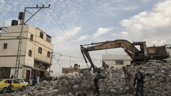 Un immeuble détruit dans la bande de Gaza - Sputnik France