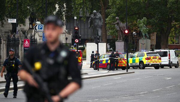 les barrières de sécurité devant le Parlement britannique - Sputnik France