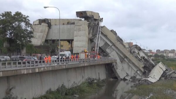 Effondrement du pont à Gênes - Sputnik France