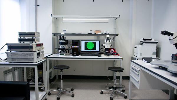 Dans un laboratoire de l'Université nationale des sciences et de la technologie MISiS - Sputnik France