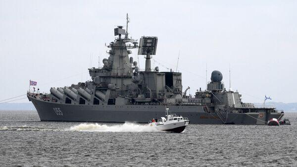 Le croiseur lance-missile Marchal Oustinov - Sputnik France