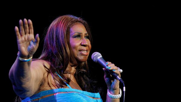 Singer Aretha Franklin performs at Radio City Music Hall in New York in this February 17, 2012 - Sputnik France