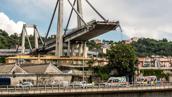 Le pont de Morandi à Gênes - Sputnik France