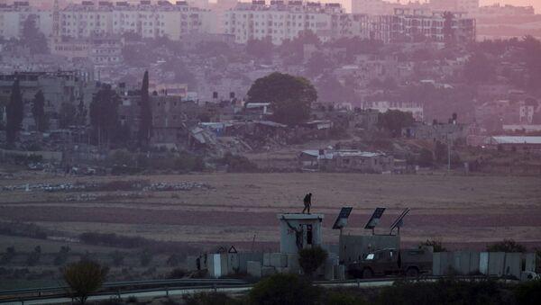 la frontière entre Israël et la bande de Gaza - Sputnik France