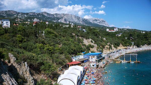 Une plage en Crimée - Sputnik France