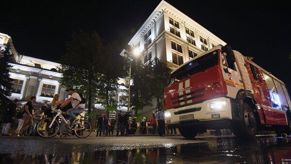 Dans la capitale russe, le bâtiment de la Banque centrale a été pris par les flammes ce vendredi dans la soirée - Sputnik France