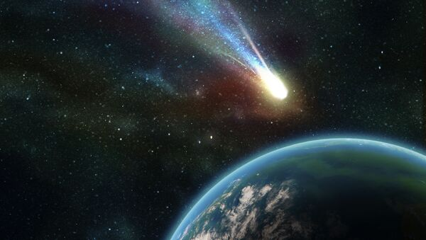 Earth in space with a flying asteroid - Sputnik France
