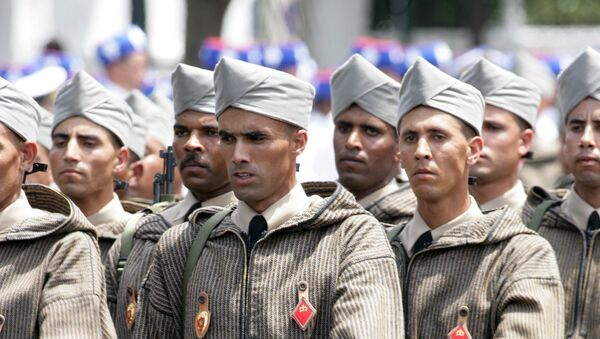 In this May 14, 2006 file photo, Moroccan Army soldiers parade during celebrations to mark the 50th anniversary of the Moroccan Royal Armed Forces. - Sputnik France