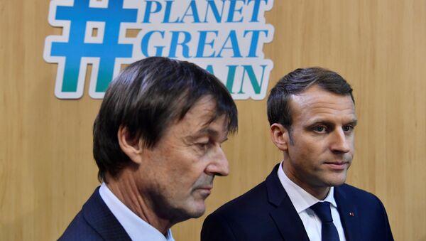 Emmanuel Macron et Nicolas Hulot - Sputnik France