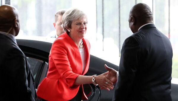 Theresa May et Cyril Ramaphosa - Sputnik France