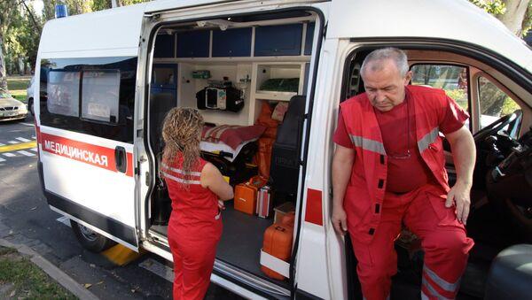 An ambulance in Donetsk. File photo - Sputnik France