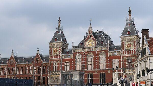 La gare centrale d'Amsterdam - Sputnik France