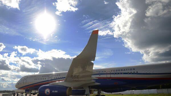 A Tu-214 ON (Open Skies) reconnaissance aircraft. (File) - Sputnik France