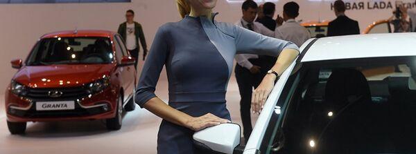 Модель на стенде АвтоВАЗа на Московском международном автомобильном салоне 2018. - Sputnik France