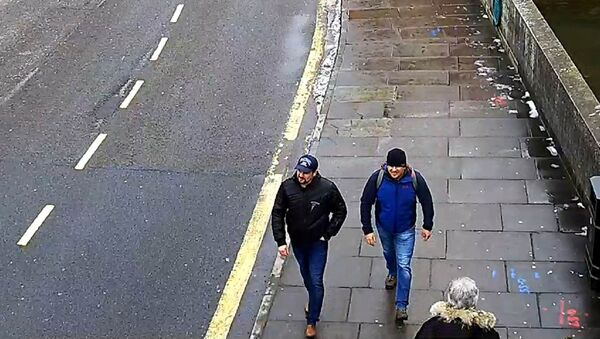 Alexander Petrov and Ruslan Boshirov, who were formally accused of attempting to murder former Russian spy Sergei Skripal and his daughter Yulia in Salisbury, are seen on CCTV on Fisherton Road in Salisbury on March 4, 2018 in an image handed out by the Metropolitan Police in London, Britain September 5, 2018 - Sputnik France
