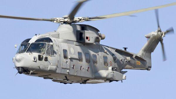Un hélicoptère de l'entreprise italienne Leonardo Finmeccanica - Sputnik France