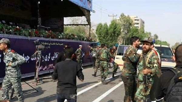 A general view of the attack during the military parade in Ahvaz, Iran September 22, 2018. - Sputnik France
