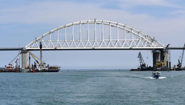 Крымский мост через Керченский пролив. - Sputnik France