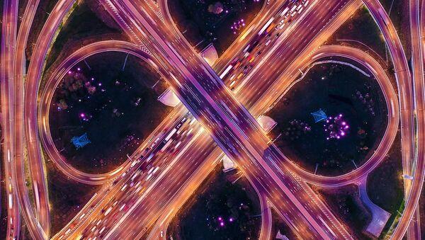 Автомобильная развязка МКАД и Каширского шоссе - Sputnik France