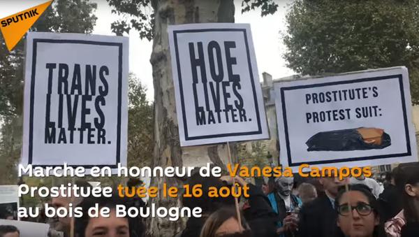 Marche pour Vanesa Campos, prostituée tuée au bois de Boulogne - Sputnik France