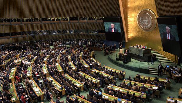 Donald Trump à la tribune de l'Assemblée générale de l'Onu - Sputnik France