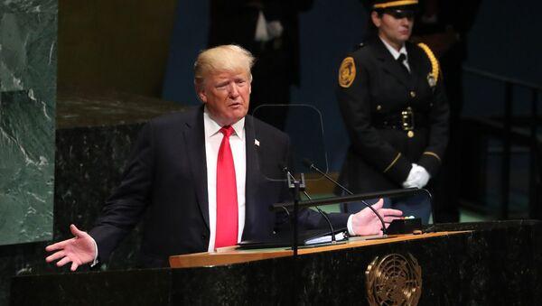 U.S. President Donald Trump addresses the 73rd session of the United Nations General Assembly at U.N. headquarters in New York, U.S., September 25, 2018 - Sputnik France