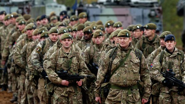 British soldiers attend a military exercise north of the capital Vilnius, Lithuania. - Sputnik France