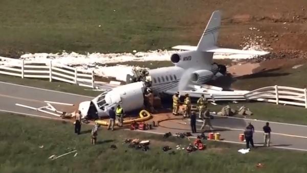 Crash d'un Falcon 50 à Greenville, en Caroline du Sud - Sputnik France