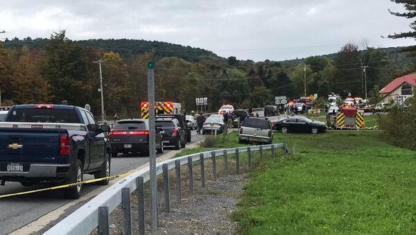 Une collision entre deux véhicules dans le nord de l'État de New York - Sputnik France