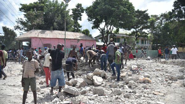 Conséquences du séisme qui a frappé Haïti le 7 octobre 2018 - Sputnik France
