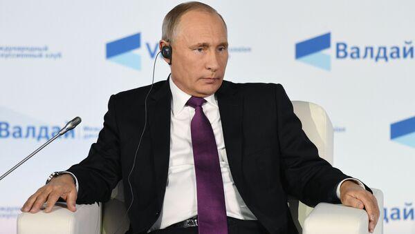 Prezydent Rosji Władimir Putin na posiedzeniu Klubu Wałdajskiego - Sputnik France