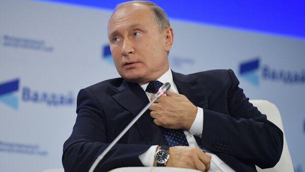 Vladimir Poutine participe à la 15e réunion annuelle du Club Valdaï - Sputnik France